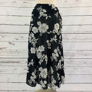 Requirements black and white floral skirt
